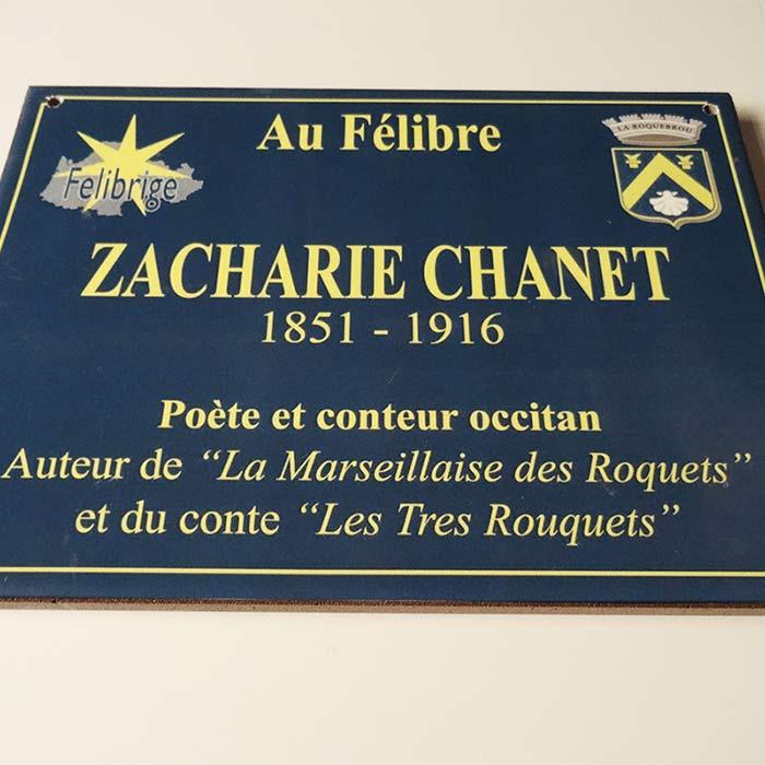 Plaque de rue Zacharie Chanet