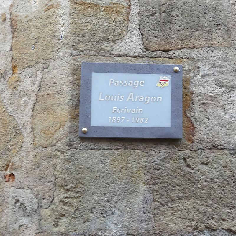 Plaque de rue passage Aragon